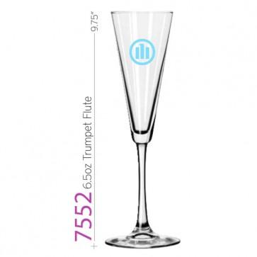 6.5oz Trumpet Champagne Flute