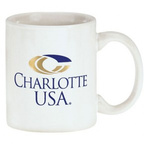 11 oz White C-Handle Mug