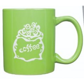 11 oz Lime Green C-Handle Mug