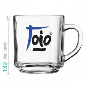 10oz Handy Glass Beverage Mug