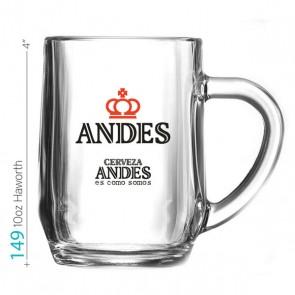 10oz Haworth Glass Beverage Mug