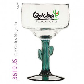 12 oz Cactus Stem Margarita Glass