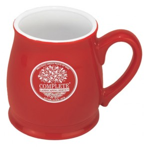 15 oz Red Out/White In Spokane Barrel Style Mug