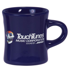 10 oz Cobalt Vitrified Military Mug