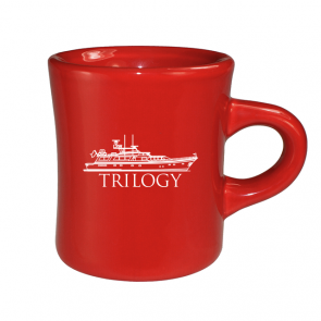 10 oz Red Vitrified Military Mug