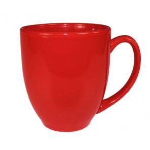 16 oz Red Vitrified Bistro Mug