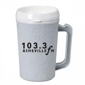 34 oz Granite Thermo Mug with White Lid