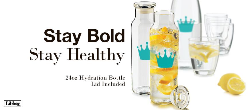Libbey Glass Hydration Bottle 726